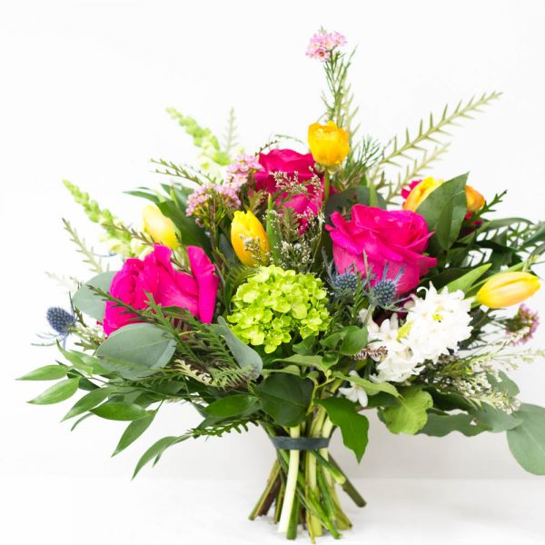 Bright and cheery flowers same day delivery - Living Fresh Cheerful Hand Tied Bouquet