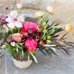Living Fresh - Gardeny Floral Vase Arrangement - Medium