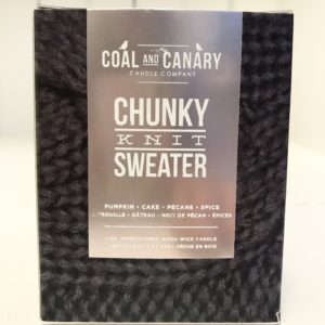 Coal and Canary Chunky Knit Sweater Candle