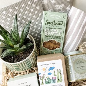 Living Fresh Flower and Plant Studio - Green is the New Black Gift Box