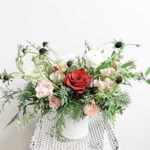 Seasonal Holiday Vase Arrangement - Living Fresh