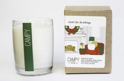 Campy Candle - The Holidays at Living Fresh