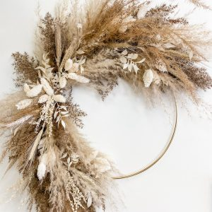 Dried Hoop Wreath Workshop - Living Fresh