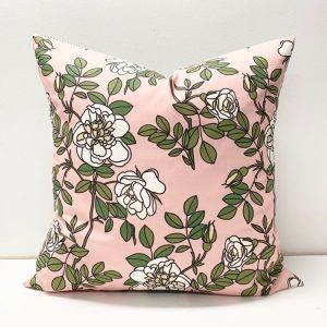 Living Fresh Flower and Plant Studio - Toss Pillow Covers - White Garden Rose