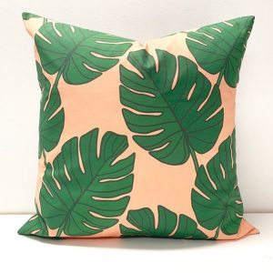 Living Fresh Flower and Plant Studio - Toss Pillow Covers - Monstera Leaf