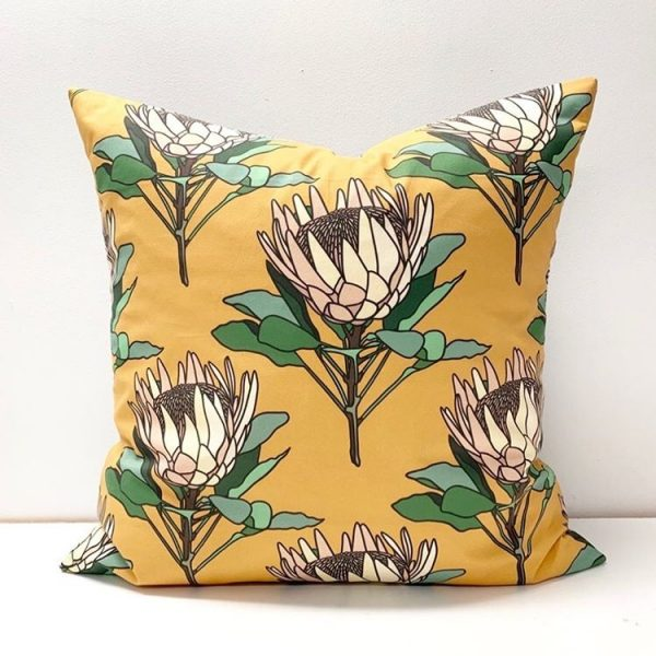 Living Fresh Flower and Plant Studio - Toss Pillow Cover - Protea