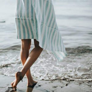 Living Fresh Oversized Turkish Towel Aqua