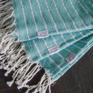 Living Fresh Mini Turkish Towel Aqua