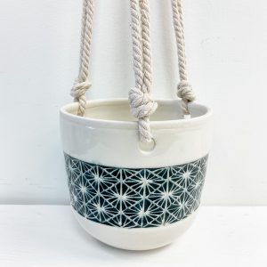 Living Fresh Flower and Plant Studio - Love Bites Ceramics - Ceramic Hanging Pot