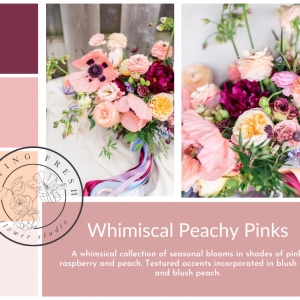Living Fresh Flower and Plant Studio - Whimiscal Peachy Pinks