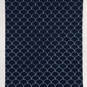 Living Fresh - Ten and Co - Sponge Cloth Black Scallop