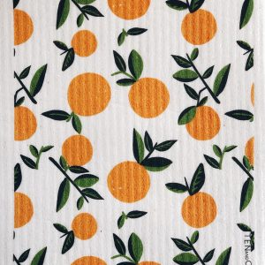 Living Fresh - Ten and Co - Sponge Cloth Citrus-Orange