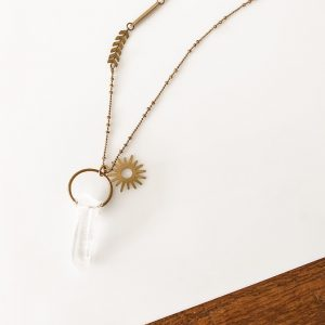 Living Fresh Flower and Plant Studio - Quartz Crystal Necklace