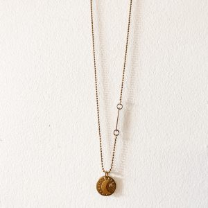 Living Fresh Flower and Plant Studio - Moon Coin Necklace