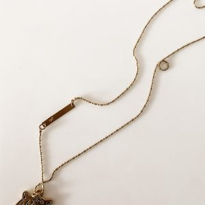 Living Fresh Flower and Plant Studio - Brass Tiger Necklace