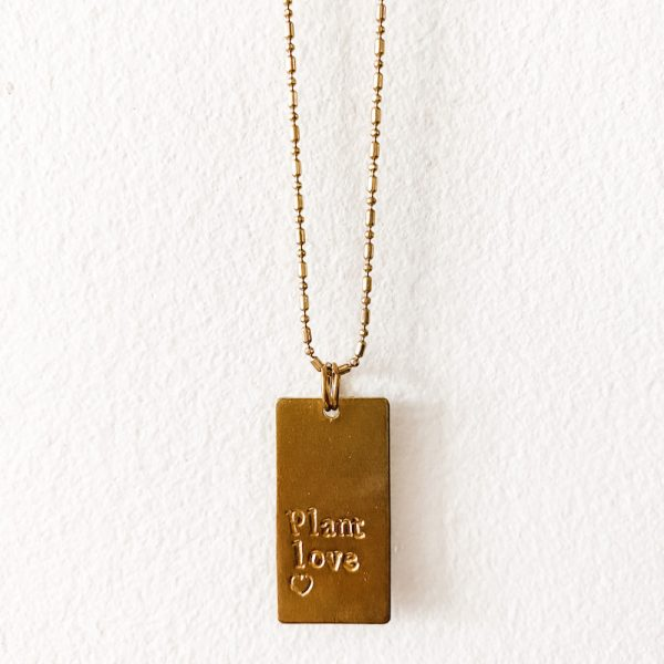 Living Fresh Flower and Plant Studio - Living Fresh Flower and Plant Studio - Plant Love Brass Necklace
