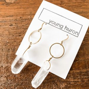 Living Fresh Flower and Plants Studio - Crystal Quartz Earrings