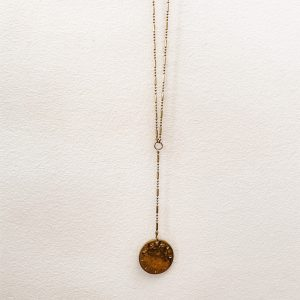 Living Fresh Flower and Plant Studio - Long Y Coin Necklace