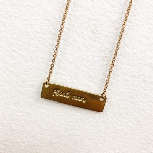 Living Fresh Flower and Plant Studio - Living Fresh Flower and Plant Studio - Plant Mom Brass Necklace