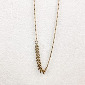 Living Fresh Flower and Plant Studio - Chevron Brass Choker