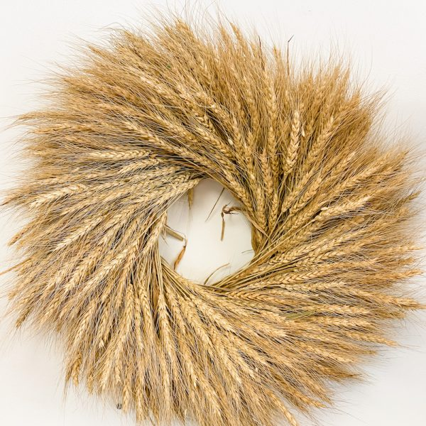 Living Fresh Flower and Plant Studio - Natural Wheat Wreath