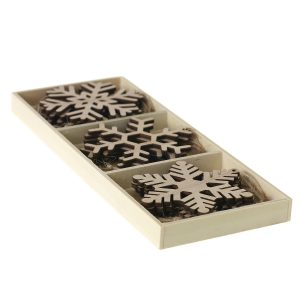 Living Fresh Flower and Plant Studio - Wooden Snowflakes 12 per pack