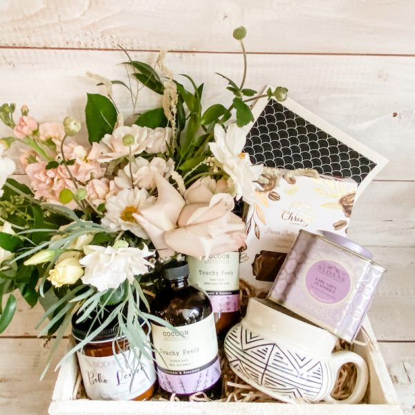 Living Fresh Flower and Plant Studio - Deluxe Staycation Gift Box