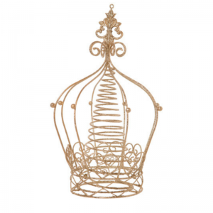Living Fresh Flower and Plant Studio - Gold Metal Crown Tree Topper