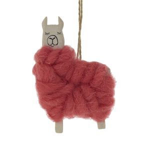 Living Fresh Flowers and Plants - Fa La Llama Ornament