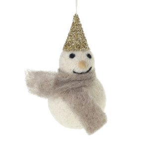 Living Fresh Flowers and Plants - Felted Frosty Hanging Ornament