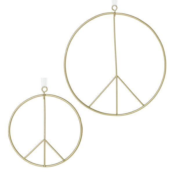Living Fresh Flowers and Plants - Peace Sign Ornament