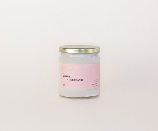 Living Fresh Flower and Plant Studio Homecoming Candle Amber + Bitter Orange