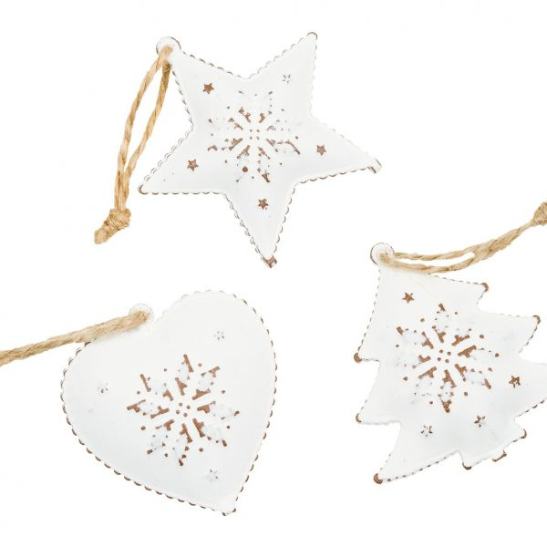 Living Fresh Flower and Plant Studio - White Mini Ornaments with Bell
