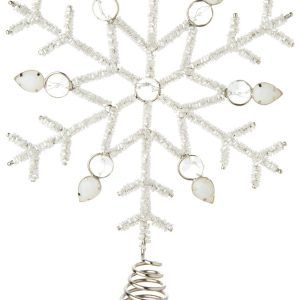 Living Fresh Flower and Plant Studio - Wintery Snowflake Tree Topper