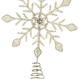 Living Fresh Flower and Plant Studio - Snowy Snowflake Tree Topper