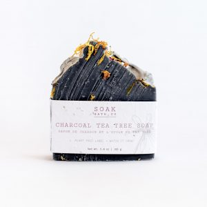 Living Fresh Flower and Plant Studio - Charcoal Tea Tree Soap Bar