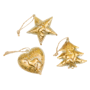 Living Fresh Flower and Plant Studio - Gold Mini Ornaments with Bell