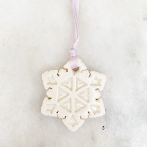 Living Fresh Flower and Plant Studio - Small Snowflake Ornaments Love Bites Ceramics