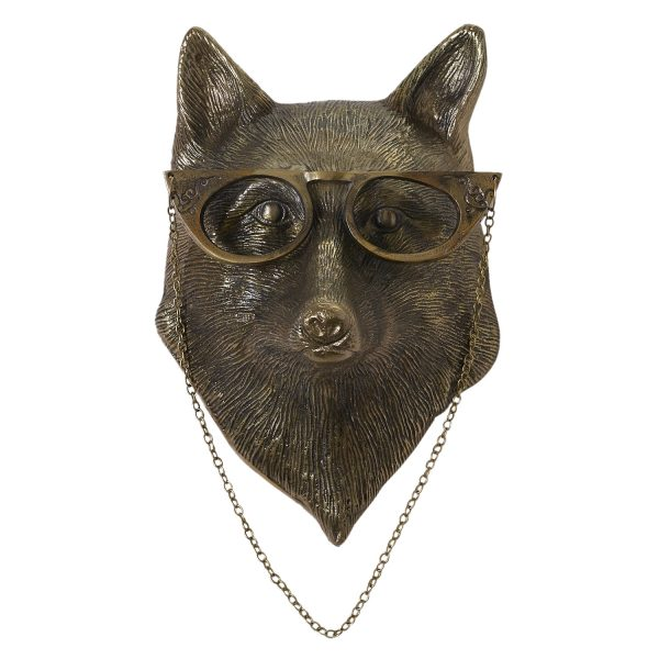 Living Fresh Flower and Plant Studio - Fox with Glasses Wall Mount