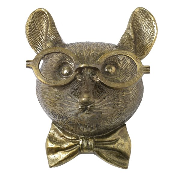 Living Fresh Flower and Plant Studio - Mouse with Glasses Wall Mount
