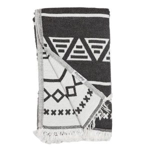 Living Fresh Flower and Plant Studio - Sunday Dry Goods - Aztec Towel - Black