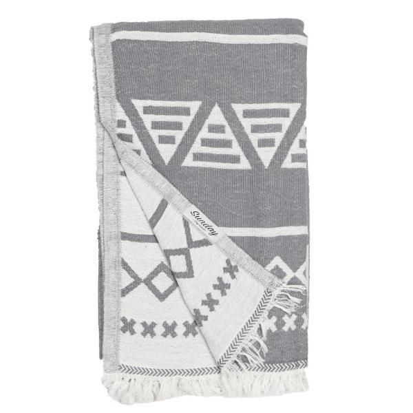 Living Fresh Flower and Plant Studio - Sunday Dry Goods - Aztec Towel - Charcoal
