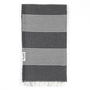 Living Fresh Flower and Plant Studio-Sunday Dry Goods - Everyday Turkish Towel - Black
