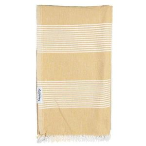 Living Fresh Flower and Plant Studio-Sunday Dry Goods - Everyday Turkish Towel - Gold