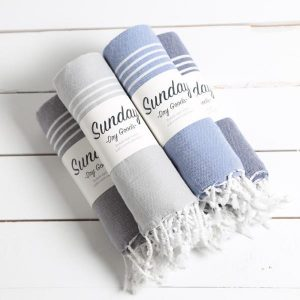 Living Fresh Flower and Plant Studio-Sunday Dry Goods - Everyday Turkish Towel - Packaged