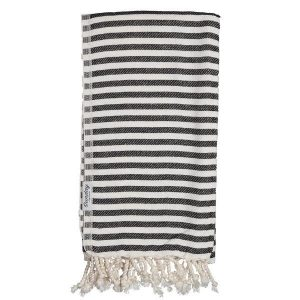 Living Fresh Flower and Plant Studio - Sunday Dry Goods - Jude Turkish Towel - Black