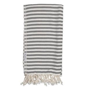 Living Fresh Flower and Plant Studio - Sunday Dry Goods - Jude Turkish Towel - Charcoal