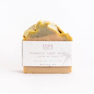 Living Fresh Flower and Plant Studio - Tobacco Leaf Soap Bar