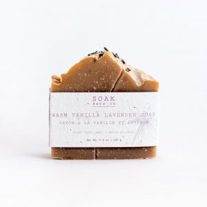 Living Fresh Flower and Plant Studio - Warm Vanilla Lavender Soap Bar