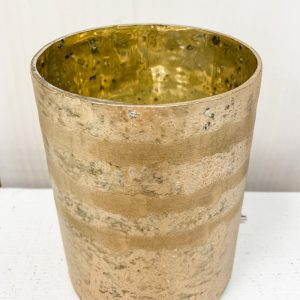 Living Fresh Flower and Plant Studio - Gold Mercury Glass Vase